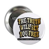 "Cool Truth will set you free 2.25"" Button (100 pack)"