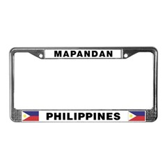 Mapandan License Plate Frame