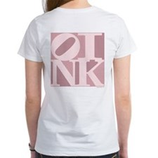 OINK T Shirt (Women's, Pink Graphic)
