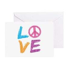Love Peace Sign Greeting Card