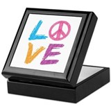Love Peace Sign Keepsake Box
