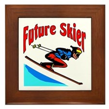 Future Snow Skier Framed Tile