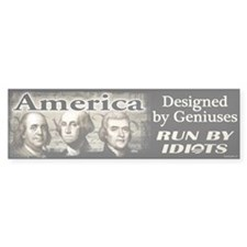Designed by Geniuses Bumper Sticker