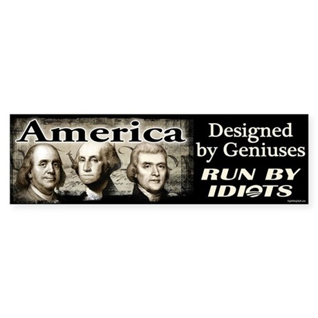 Designed by Geniuses Sticker (Bumper)