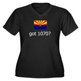 got 1070? on Black Women's Plus Size V-Neck Dark T