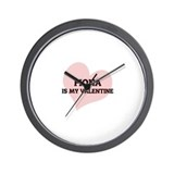 Fiona Is My Valentine Wall Clock