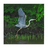 Heron taking flight Tile Coaster