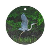 Heron taking flight Ornament (Round)