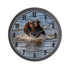 Chocolate Labs Wall Clock