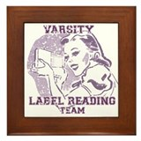 Cute Varsity Framed Tile