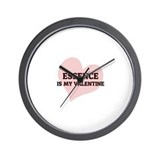 Essence Is My Valentine Wall Clock