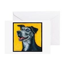 """Shepherd Mix """"Bowie"""" Greeting Cards (Pk of 20)"""
