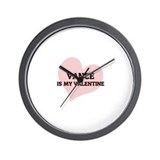 Vance Is My Valentine Wall Clock