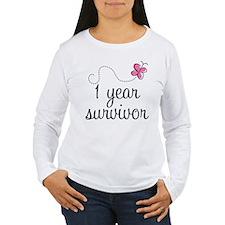 1 Year Breast Cancer Survivor T-Shirt