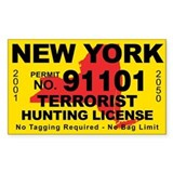 New York Terrorist Hunting License Decal