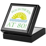 Fun 80th Keepsake Box