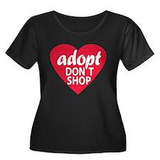 Adopt Don't Shop Womens Plus Size Scoop Neck Shirt