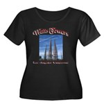 Watts Towers Women's Plus Size Scoop Neck Dark T-S