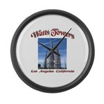 Watts Towers Large Wall Clock