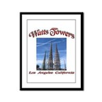 Watts Towers Framed Panel Print