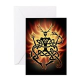 Cernunnos Flames Greeting Card