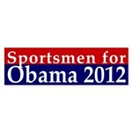 Sportsmen for Obama 2012 Bumper Sticker