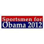 Sportsmen for Obama 2012 Bumper Sticker