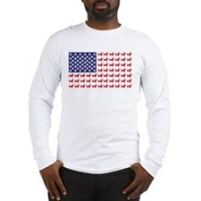 Dachshund Patriotic Flag Long Sleeve T-Shirt