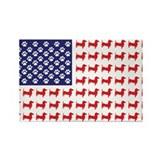 Dachshund Patriotic Flag Rectangle Magnet (10 pack