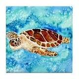 Cute Sea turtle Tile Coaster