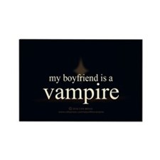 Boyfriend Vampire Eclipse Rectangle Magnet