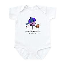 SO MANY PITCHES - BASEBALL Infant Bodysuit