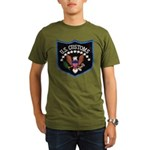 U S Customs Organic Men's T-Shirt (dark)
