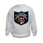 U S Customs Kids Sweatshirt