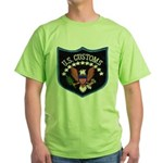 U S Customs Green T-Shirt