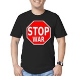 Stop War Men's Fitted T-Shirt (dark)