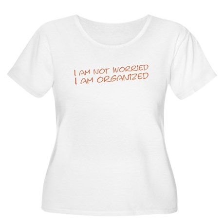 I am not worried (US) Women's Plus Size Scoop Neck