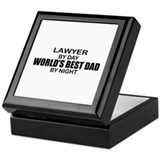 World's Best Dad - Lawyer Keepsake Box