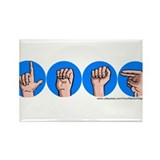 """Leah"" Blue Circle Sign Rectangle Magnet"