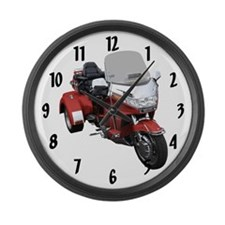 Goldwing trikes Large Wall Clock