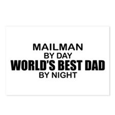 World's Best Dad - Mailman Postcards (Package of 8