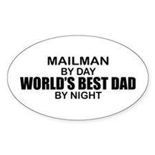 World's Best Dad - Mailman Decal