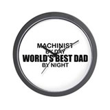 World's Best Dad - Machinist Wall Clock