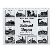 Iowa Railroad Depots- Train Depots-Wall Calendar