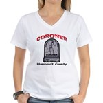 Humboldt County Coroner Women's V-Neck T-Shirt