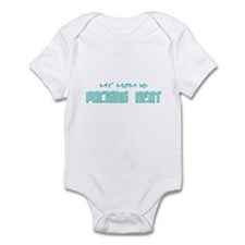 My Mom is packing heat-green Infant Bodysuit