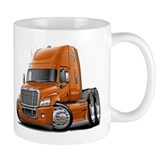 Freightliner Orange Truck Mug
