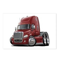 Freightliner Maroon Truck Postcards (Package of 8)
