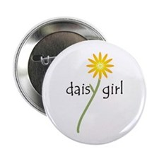"Yellow Daisy Girl 2.25"" Button"