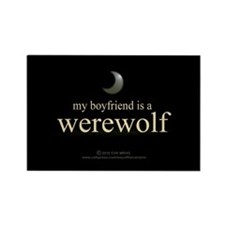 Boyfriend Werewolf Eclipse Rectangle Magnet (100 p